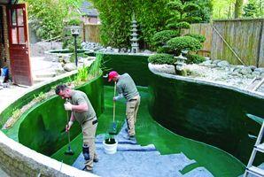 этапы строительства садового аквариума
